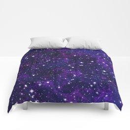 winter galactic Comforters