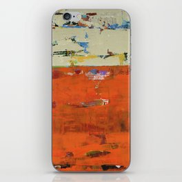 Roadrunner Bright Orange Abstract Colorful Art Painting iPhone Skin