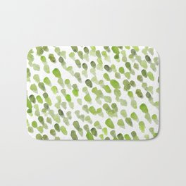 Imperfect brush strokes - olive green Bath Mat