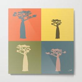 Baobab Safari Metal Print