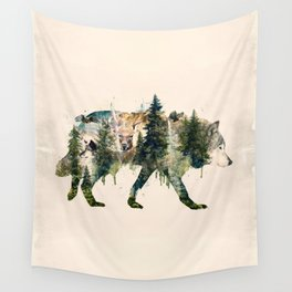 Wolf is the Pride of Nature Wall Tapestry