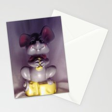 Mouse Bank With Cheese Stationery Cards