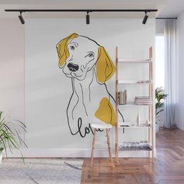 Dog Modern Line Art Wall Mural