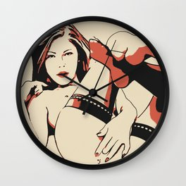 NSFW - Playing Dirty Wall Clock