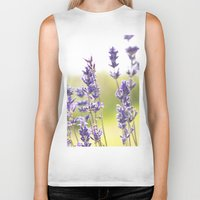 lavender Biker Tanks featuring lavender  by world pictured