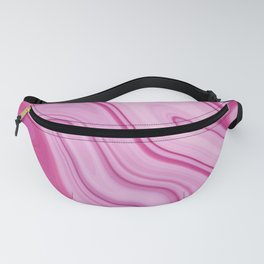 Pink Liquid Marble Watercolor Artwork Fanny Pack