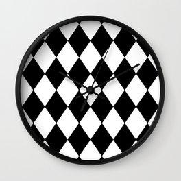 Diamonds (Black/White) Wall Clock
