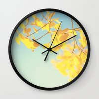 golden Wall Clocks featuring golden by Life Through the Lens