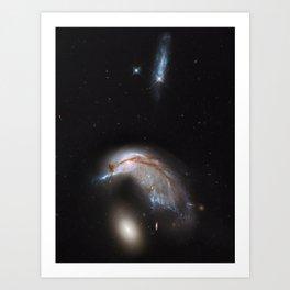 Celestial Bird - Colliding Galaxy Pair Art Print