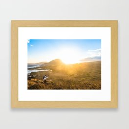 Hawaii Sunset at Makapu'u Lighthouse Framed Art Print