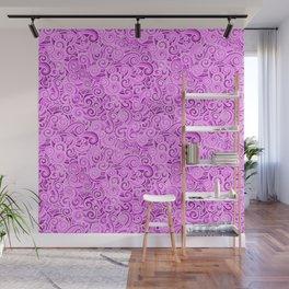 swirl violet Wall Mural