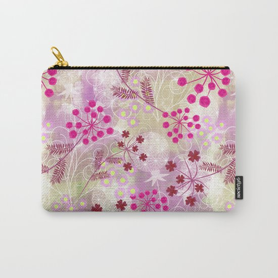 bright floral pattern ,watercolor background. Carry-All Pouch