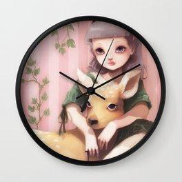 My dear lady deer... Wall Clock