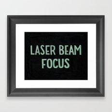 Laser Beam Focus Framed Art Print