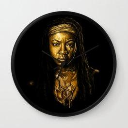 Michonne Golden Wall Clock