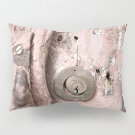 Pink Rusty Door Pillow Sham