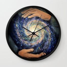 Conjurer (Mural at High Dive, Gainesville FL) // Stars Galaxy Hands Energy Power Creation Space Wall Clock