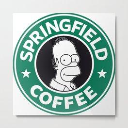 Springfield Coffee Metal Print