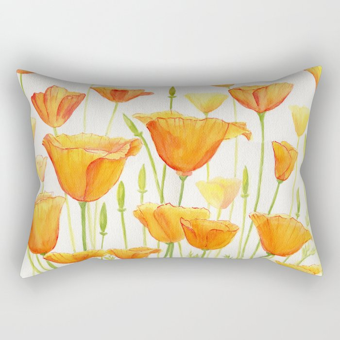 Blossom Poppies Rectangular Pillow