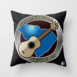 Spartanburg Ukuleles Throw Pillow