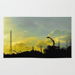 Silhouette Urban Scene, Guayaquil, Ecuador Rug