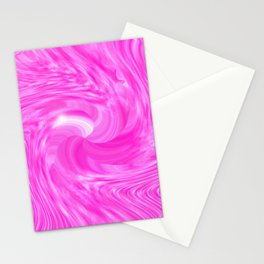 candy swirl Pink Stationery Cards