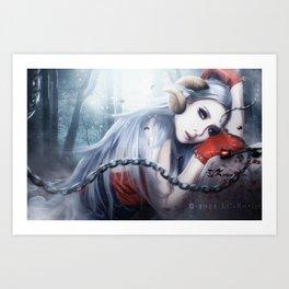 Asmociel Cl of 2ne1 Art Print