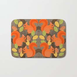Three Squirrels In A Tree Bath Mat