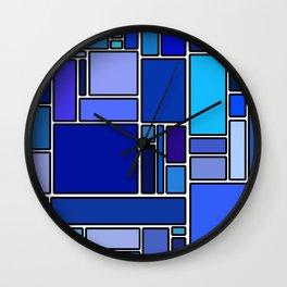 50 shades of blue Wall Clock