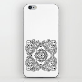 elegant meditation mandala iPhone Skin