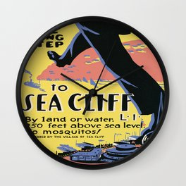 Vintage poster - Sea Cliff Wall Clock