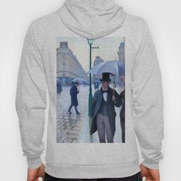 Gustave Caillebotte Paris Street Rainy Day Hoody