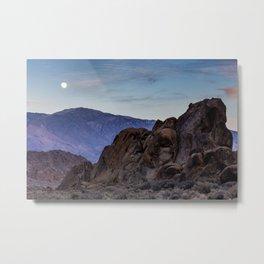 Alabama Hills Moonrise Metal Print