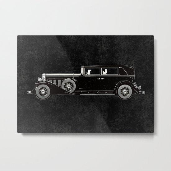 Retro Cadillac car pattern Metal Print