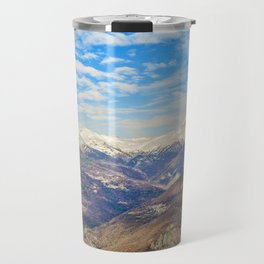Alpes Mountains Aerial View Piamonte District Italy Travel Mug