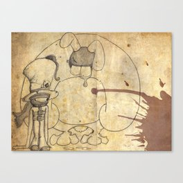 Mad Hatter and March Hare Canvas Print
