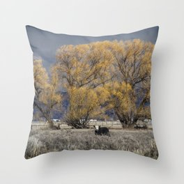 Guarding the Trees Throw Pillow