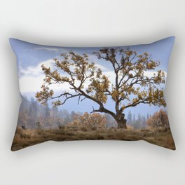 Early morning fog in the valley Rectangular Pillow