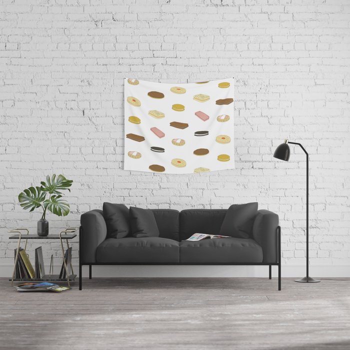 biscui - biscuit pattern Wall Tapestry