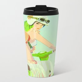 Ukulele Girl Metal Travel Mug