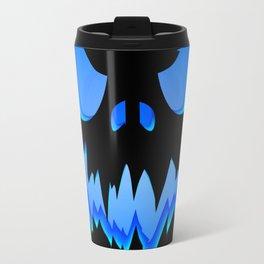 Evil pumpkin blue Travel Mug