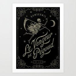 Le Vengeur de Pégoud (black/gold) Art Print