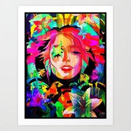 She Grows Violet Art Print