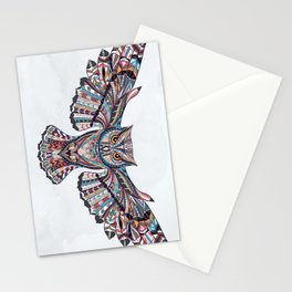 Colorful Ethnic Owl Stationery Cards