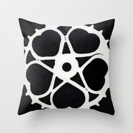 Bicycle Skip Tooth Chainring Throw Pillow