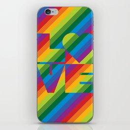 Rainbow Love iPhone Skin