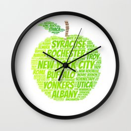 New York State Apple Wall Clock