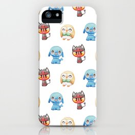 Rowlet, Litten and Popplio - Starters - Pocket Monsters iPhone Case