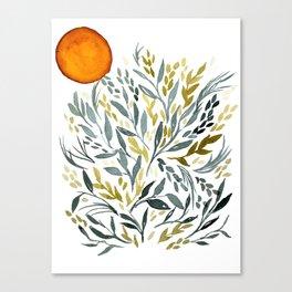 Desert Watercolor Plants Canvas Print
