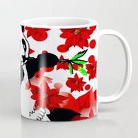 red panda Mugs featuring Panda by Saundra Myles